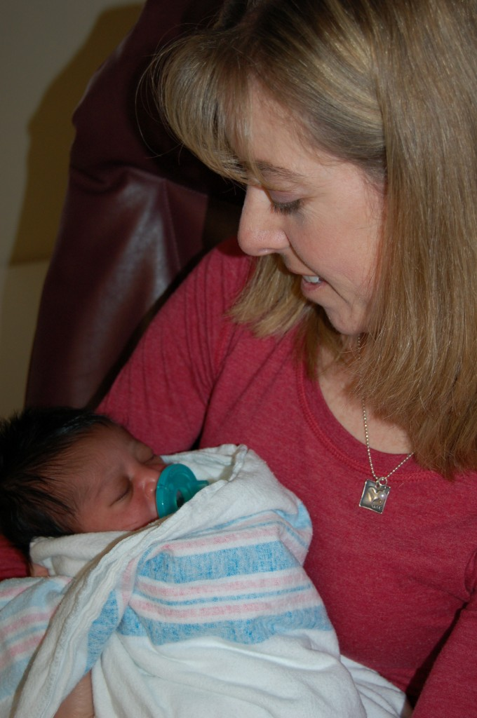 Here I am holding Penelope for the first time!