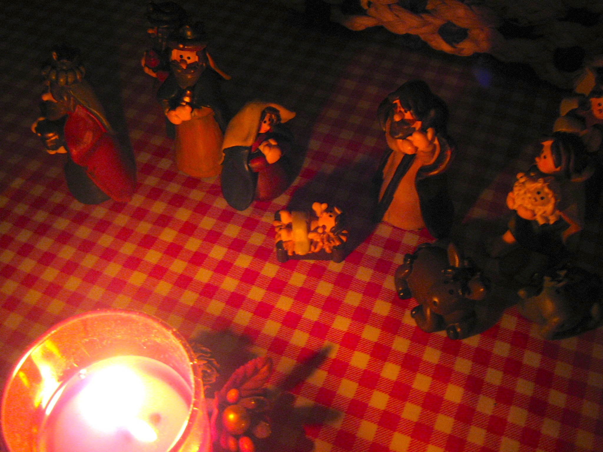 Nativity by candlelight