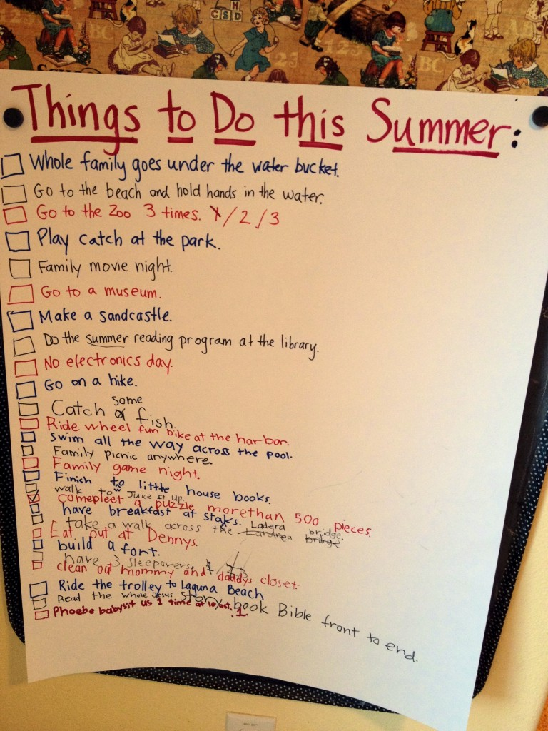 Bucket O Fun Our Summer Bucket List