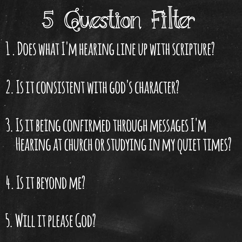 5 Question Filter